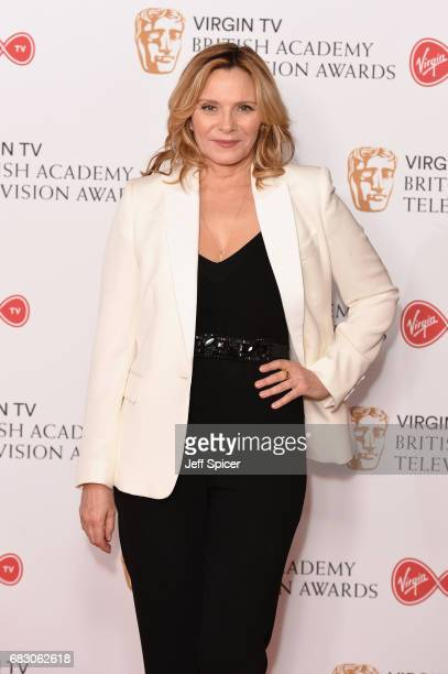 Kim Cattrall poses in the Winner's room at the Virgin TV BAFTA Television Awards at The Royal Festival Hall on May 14 2017 in London England
