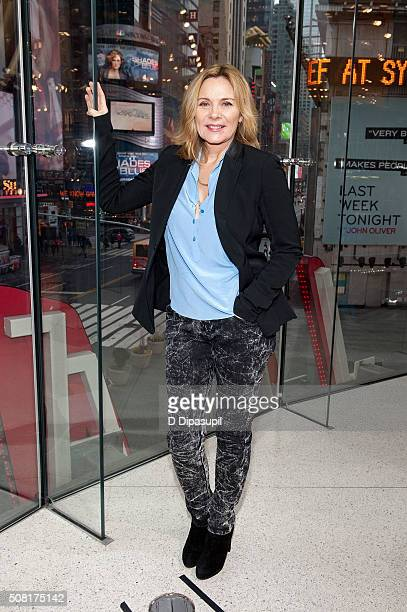 Kim Cattrall visits 'Extra' at their New York studios at HM in Times Square on February 3 2016 in New York City