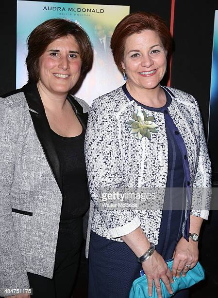 """Kim Catullo and Christine Quinn attend the Broadway Opening Night Performance of """"Lady Day at Emerson's Bar & Grill"""" at Circle in the Square Theatre..."""