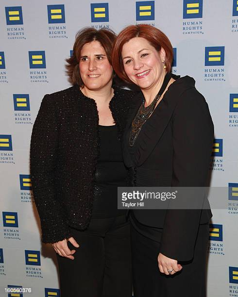 Kim Catullo and wife City Council Speaker Christine Quinn attend The 2013 Greater New York Human Rights Campaign Gala at The Waldorf=Astoria on...