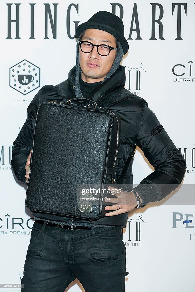 Kim Chang-Ryul of South Korean boy band DJ. DOC attends the Moldir Launching Party on January 24, 2014 in Seoul, South Korea.