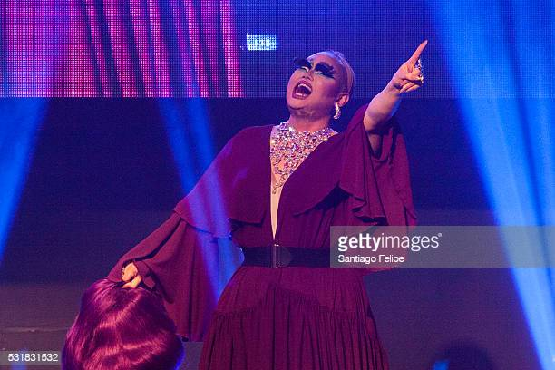 Kim Chi performs onstage during the RuPaul's Drag Race Season 8 Finale Party at Stage 48 on May 16 2016 in New York City