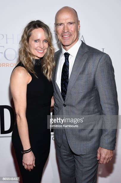 Kim Clark and former ice hockey player Mark Messier attends the Samsung annual charity gala 2017 at Skylight Clarkson Sq on November 2 2017 in New...