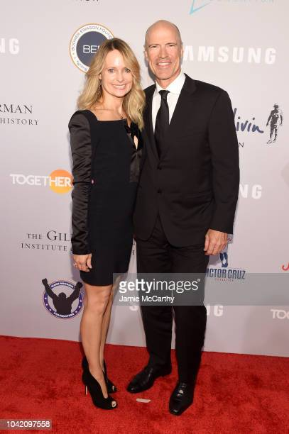 Kim Clark and Mark Messier attend the Samsung Charity Gala 2018 at The Manhattan Center on September 27 2018 in New York City