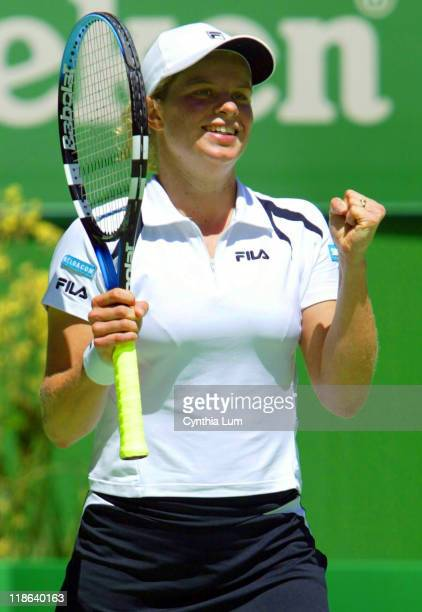 Kim Clijsters defeated Anastasia Myskina 62 64 during 2003 Australian Open Women's Singles Quarterfinals Kim Clijsters vs Anastasia Myskina at Rod...