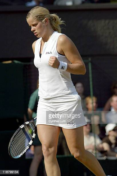 Kim Clijsters defeated by Lindsay Davenport in fourth round of the Wimbledon Championships June 27 2005