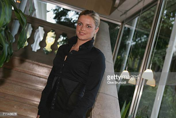 Kim Clijsters of Belgium ITF World Womens Champion 2005 poses at the Pavillion d'Armenonville after day ten of the French Open at Roland Garros on...