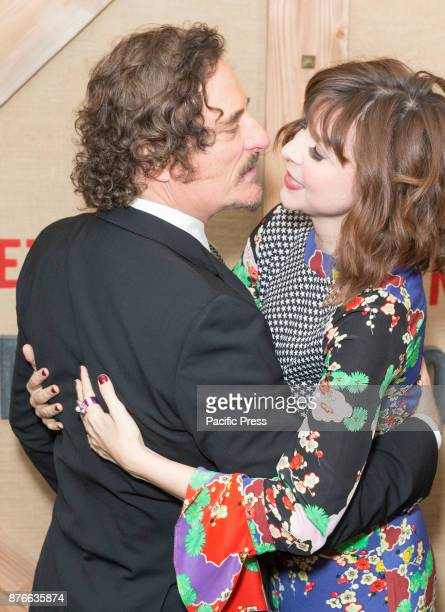 Kim Coates Audrey Moore wearing dress by Rixo attend Netflix Godless premiere at Metrograph