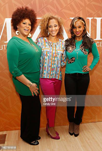 Kim Coles Amanda Seales and Olivia Longott attend 'The Spoken Word' hosted by Kim Coles at L'Oreal Soho Academy on February 26 2013 in New York City