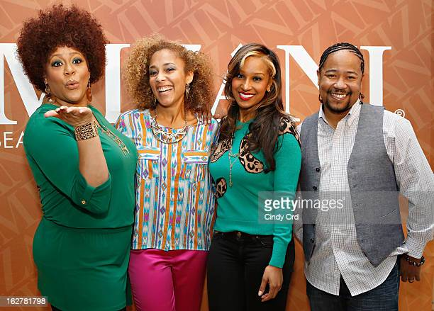 Kim Coles Amanda Seales Olivia Longott and Abyss attend 'The Spoken Word' hosted by Kim Coles at L'Oreal Soho Academy on February 26 2013 in New York...