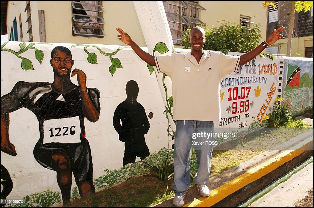 Kim Collins, 100 Meters World Champion Comes Home To Saint Kitts And Nevis In September, 2003. : News Photo