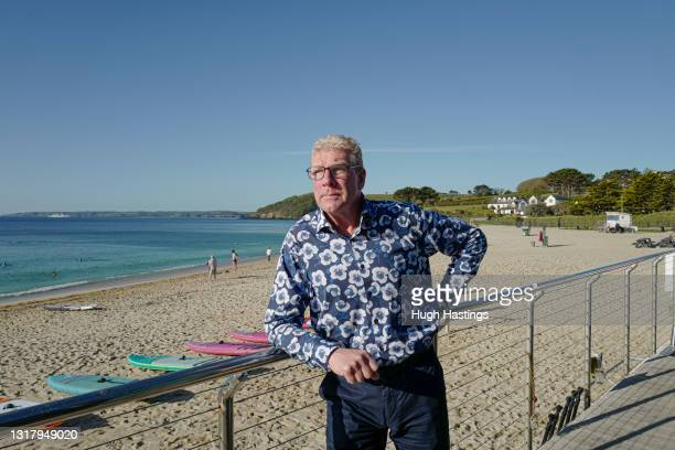 Kim Conchie, CEO of Cornwall Chamber of Commerce, poses for a photo on Gyllyngvase Beach on May 14, 2021 in Falmouth, England. Mr Conchie says the G7...
