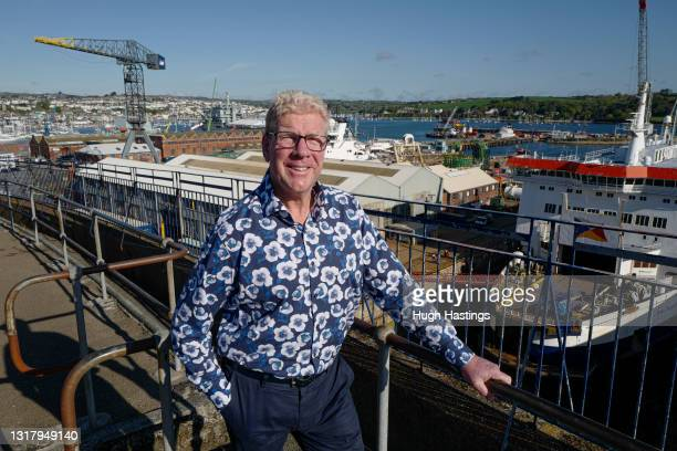 Kim Conchie, CEO of Cornwall Chamber of Commerce, poses for a photo overlooking Falmouth Docks, on May 14, 2021 in Falmouth, England. Mr Conchie says...