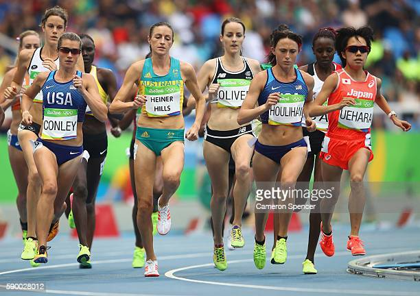 Kim Conley of the United States, Madeline Heiner Hills of Australia, Lucy Oliver of New Zealand, Shelby Houlihan of the United States, and Miyuki...