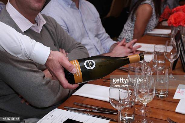 Kim Crawford Wine on display at Cobaya Dinner hosted by Andrew Zimmern Chris Cosentino Michael Schwartz Makoto Okuwa and Nicolay Adinaguev during the...