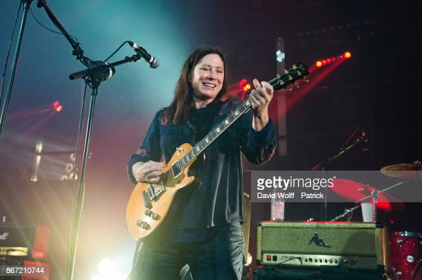 Kim Deal from The Breeders performs at La Gaite Lyrique on October 27 2017 in Paris France
