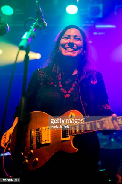Kim Deal of The Breeders performs at Electric Ballroom on October 18 2017 in London England