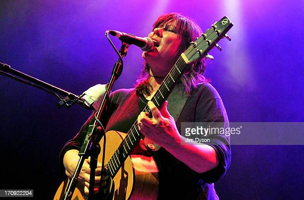 Kim Deal of The Breeders performs live on stage at The Kentish Town Forum on June 19 2013 in London England
