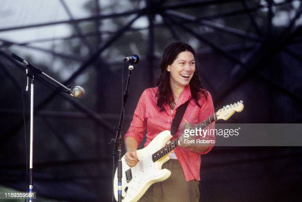 Kim Deal performing with The Breeders at Lollapalooza at Downing Stadium on Randalls Island in New York City on August 6 1994