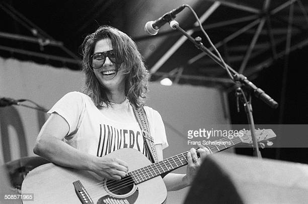 Kim Deal vocalguitar performs with the Breeders at Pinkpop in Landgraaf Netherlands on 28th June 1992