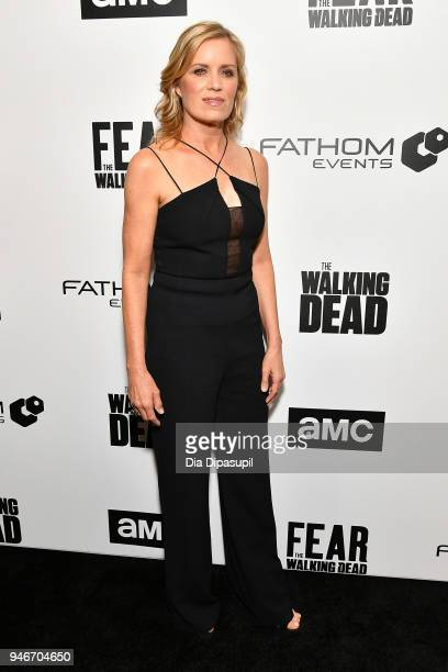 Kim Dickens attends the AMC Survival Sunday The Walking Dead/Fear the Walking Dead at AMC Empire on April 15 2018 in New York City
