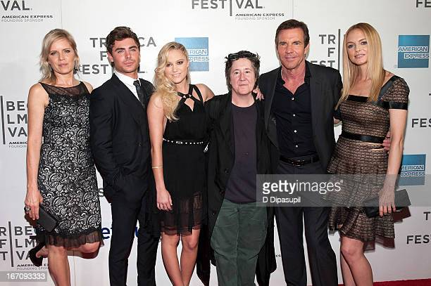 Kim Dickens Zac Efron Maika Monroe Christine Vachon Dennis Quaid and Heather Graham attend the screening of At Any Price during the 2013 Tribeca Film...