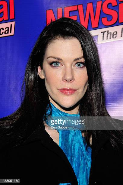 Kim Director attends the opening night of 'NEWSical the Musical End of the World Edition' at The Kirk Theater at Theatre Row on February 1 2012 in...