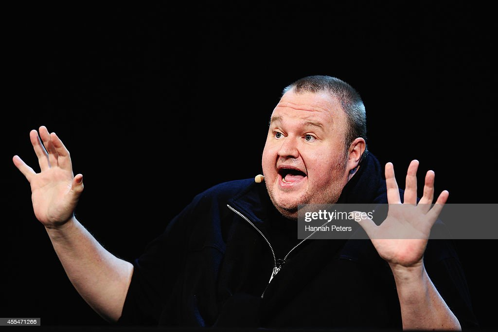 Kim Dotcom Holds 'Moment of Truth' Rally : News Photo