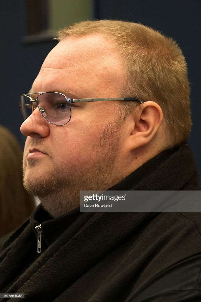 Kim Dotcom appears in New Zealand's High Court on August 29, 2016 in Auckland, New Zealand. Dotcom and his law team are now challenging the extradition ruling against him. The case is expected to run up to eight weeks.