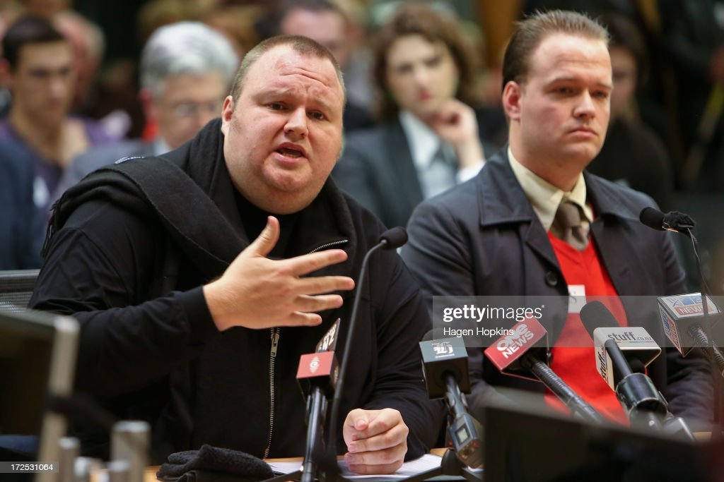 Dotcom Faces Security And Intelligence Committee : News Photo