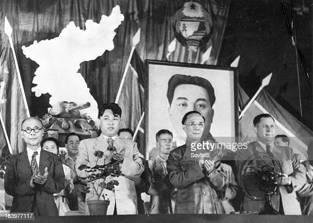 Kim Du Bong Chairman of the Koean People's Congress Kim Il Sung Prime Minister of the Democratic People's Republic of Korea Kuo Mo Jo Head of the...