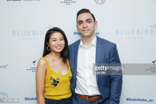 Kim Duong and Ivan Rosario attend the Bluebird London New York City launch party at Bluebird London on September 5 2018 in New York City