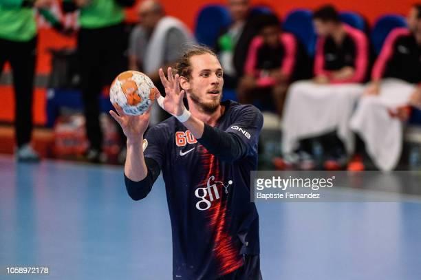 Kim Ekdahl du Rietz of Paris Saint Germain during the Lidl Starligue match between Paris Saint Germain and Pays d'Aix Universite Club at Stade Pierre...