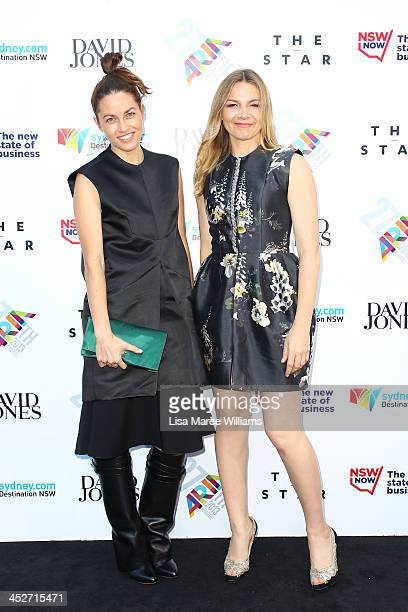Kim Ellery and Justine Clarke arrive at the 27th Annual ARIA Awards 2013 at the Star on December 1 2013 in Sydney Australia