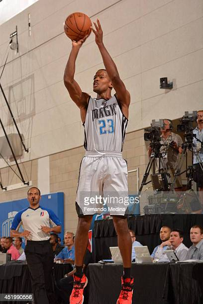 Kim English of the Orlando Magic shoots the ball against the Boston Celtics during the Samsung NBA Summer League 2014 on July 10 2014 at Amway Center...