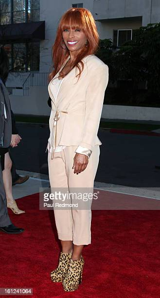 Kim English widow of The Temptasions singer Melvin Franklin arrives at the Recording Academy Special Merit Awards Ceremony at The Wilshire Ebell...
