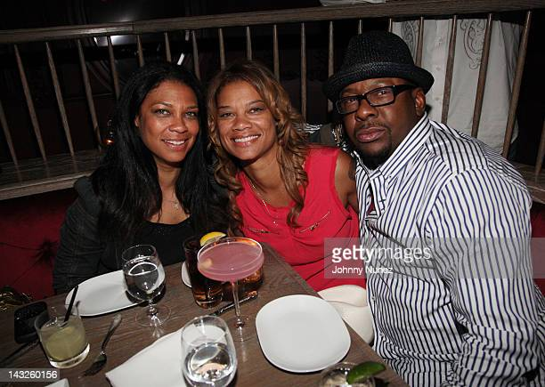 Kim Etheredge Alicia Etheredge and Bobby Brown attend a dinner at The Darby Restaurant on April 21 2012 in New York City