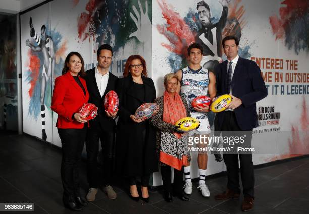 Kim Farmer Gavin Wanganeen Tanya Hosch General Manager of Inclusion and Social Policy of the AFL Aunty Pam Pedersen Nakia Cockatoo of the Cats and...