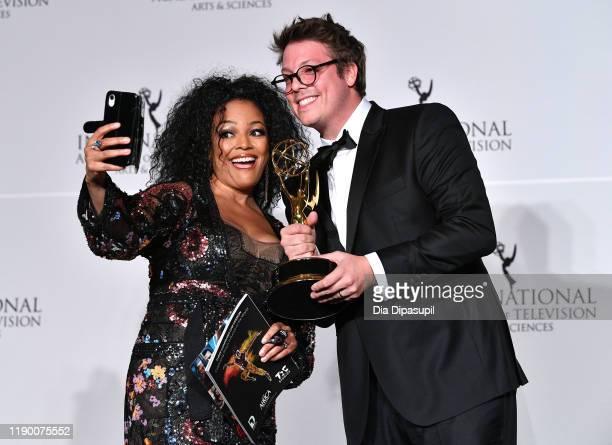 Kim Fields and Fabio Porchat winner of Best Comedy the 2019 International Emmy Awards Gala on November 25 2019 in New York City