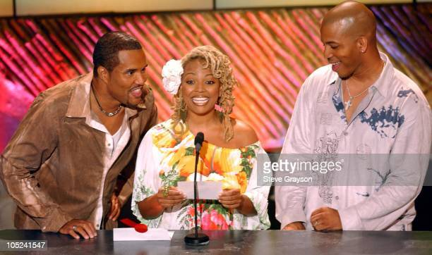 Kim Fields and Impromptu during 9th Annual Soul Train Lady of Soul Awards Show in Pasadena California United States