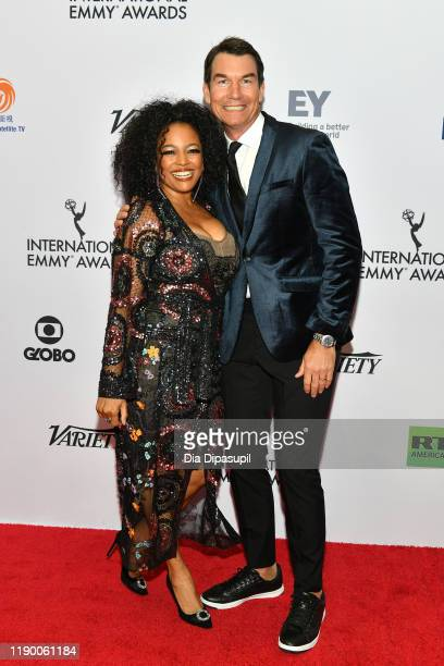 Kim Fields and Jerry O'Connell attend the 2019 International Emmy Awards Gala on November 25 2019 in New York City