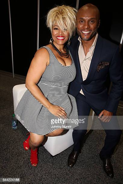 Kim Fields and Kenny Lattimore attend Day 2 of the 2016 Essence Festival at Ernest N Morial Convention Center on July 1 2016 in New Orleans Louisiana