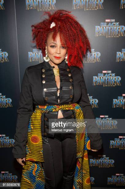 Kim Fields attends the Marvel Studios 'Black Panther' Atlanta movie screening at The Fox Theatre on February 7 2018 in Atlanta Georgia