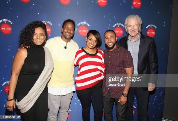 Kim Fields Jaleel White Kyla Pratt Percy Daggs III and Patrick Duffy attend the Lifetime's Christmas Movie Stars Kick Off Say Santa with It's A...