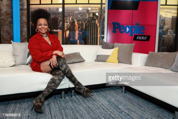 Kim Fields visits People Now on November 25 2019 in New York United States