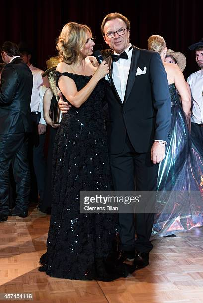 Kim Fischer and Wolfgang Lippert attend the Opera Ball Leipzig at Opernhaus on October 18, 2014 in Leipzig, Germany.