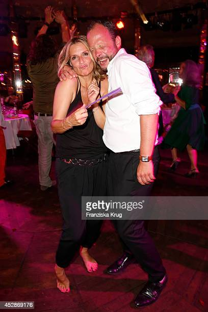 Kim Fisher and Alexander Franke attend the Udo Walz Celebrates His 70th Birthday at BAR jeder Vernunft on July 28 2014 in Berlin Germany