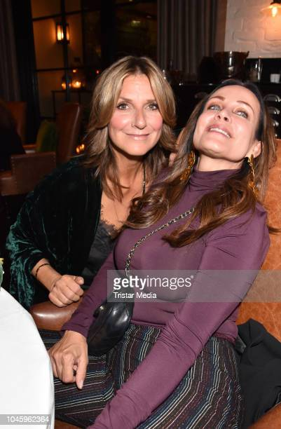 Kim Fisher and Sonja Kirchberger attend the charity event PLACE TO B Playing for Charity at Restaurant GRACE on October 4 2018 in Berlin Germany