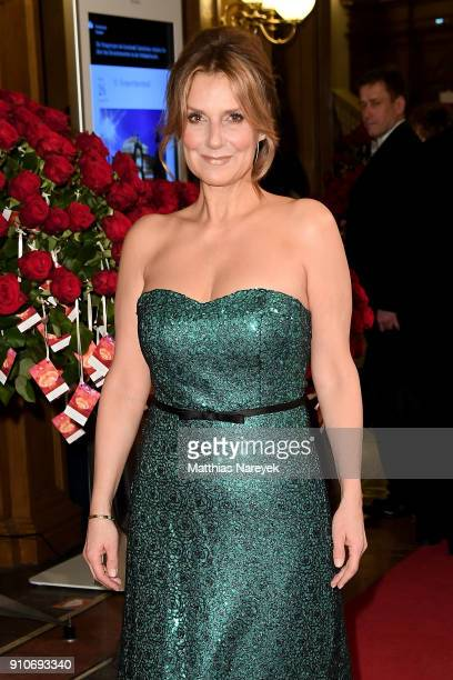 Kim Fisher arrives for the Semper Opera Ball 2018 at Semperoper on January 26 2018 in Dresden Germany