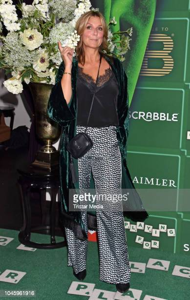 Kim Fisher attends the charity event PLACE TO B Playing for Charity at Restaurant GRACE on October 4, 2018 in Berlin, Germany.
